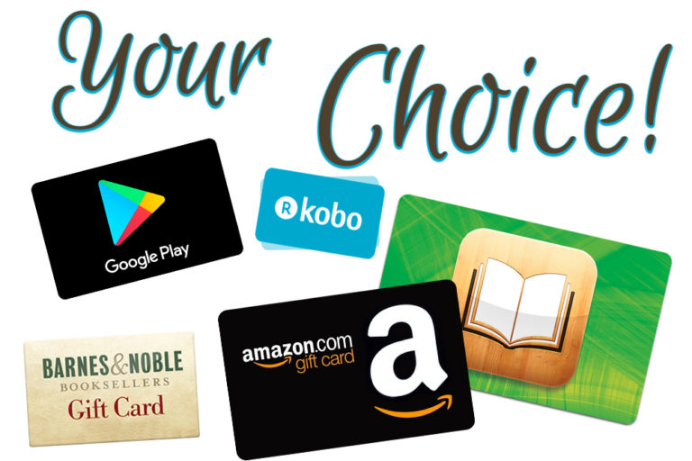 win a gift card to an eBookstore of your choice!